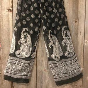 Sheer black cover up pool/beach pants - S